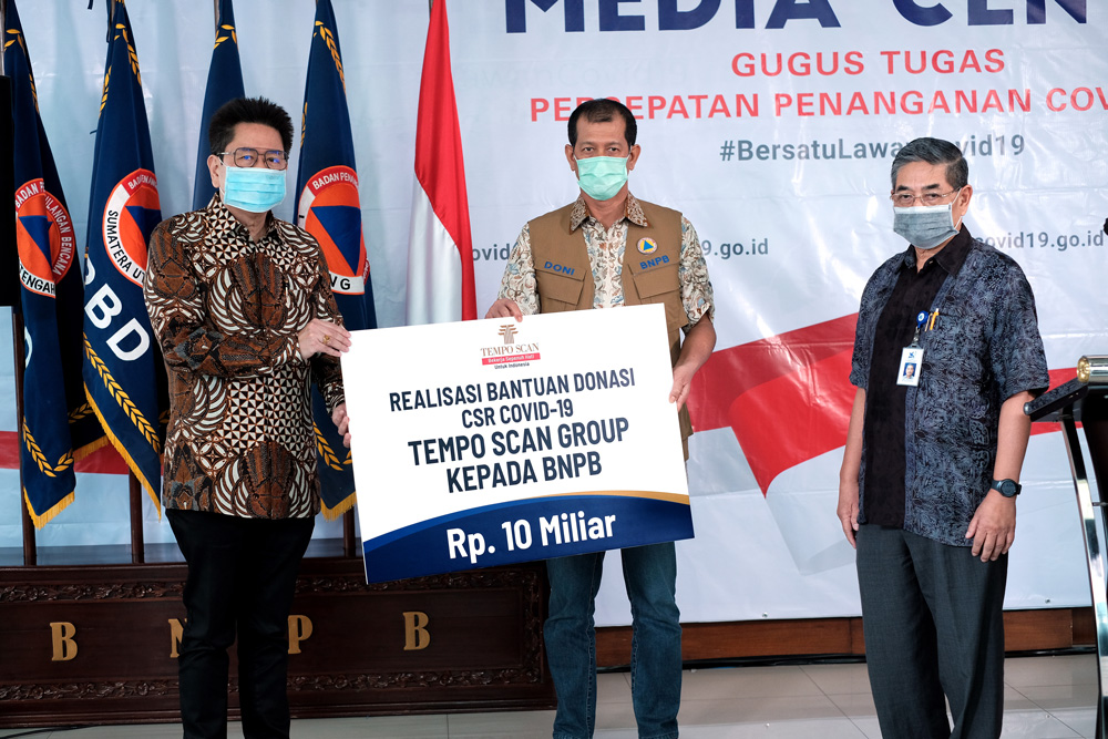 Tempo Scan Group (TSG) CSR COVID-19 – BNPB DONATION